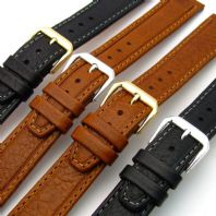 Bermuda Flat Leather Watch Strap  by CONDOR 18mm 068R